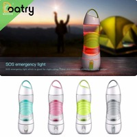 400ml Cycling Running Water Drinking Bottle Misting Sport Smart Reminder Spray Water Bottle With Led SOS Indicator BPA Free