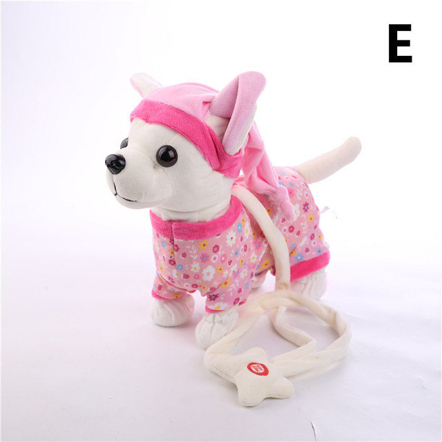 Singing Walking Musical Plush Pet Robot Dog Toys Interactive Toys For Kids Baby Christmas Electronic Dog Pet Der Chi Chi LOVEElectronic Toys