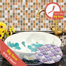 Bathroom 3D Mosaic Tile Stickers Waterproof Dormitory Home Decoration Decal Kitchen Self-Adhesive Sticker Wall Paper Brick