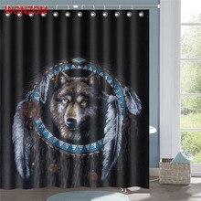 WONZOM Wolf Waterproof Shower Curtain 3D Animal Bathroom Decor Tiger Decoration Cortina De Bano 2018 Polyester Bath Gift