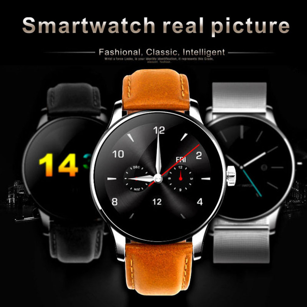 2017 K88H IP54 Waterproof High Qualities Fashionable Style Watch Ultrathin Round