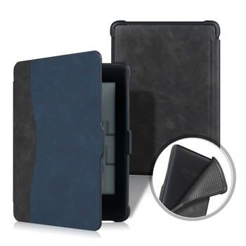 Funda Kindle Paperwhite 1 2 3, Funda magnética de cuero de PU con parte delantera de TPU para Amazon Kindle Paperwhite antes de 2018