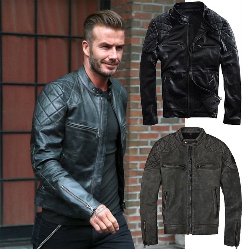 Short leather jackets for men