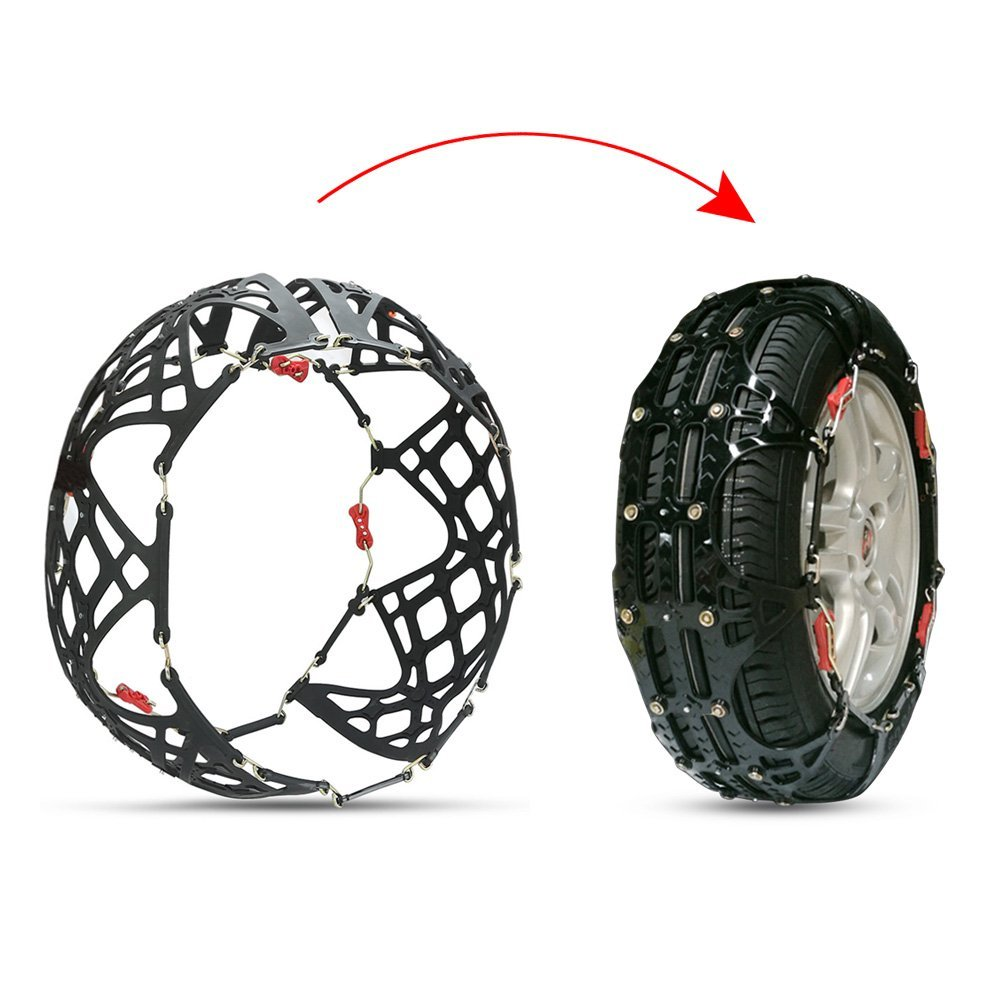 rupse tire chain  car suv emergency mud snow tire anti skid security chains set    snow