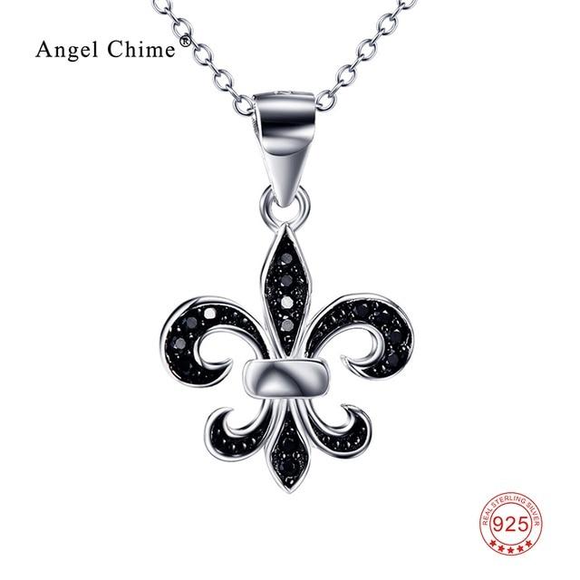 The Saint Maria Symbol Fleur De Lis Pendant Statement Necklace Pure