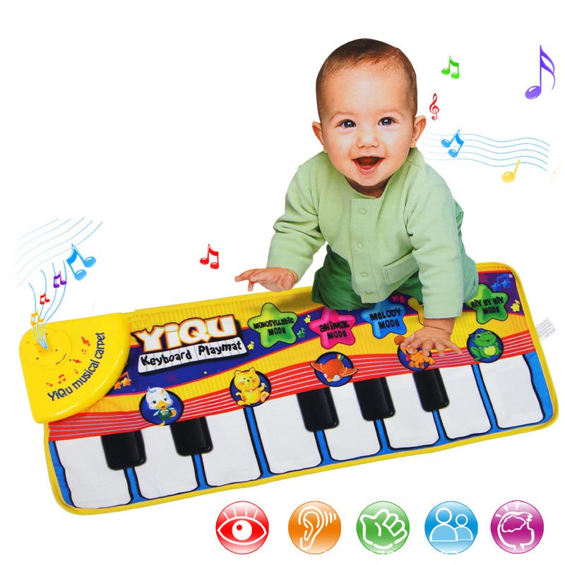 New Infant Baby Piano Playing Toy With Funny Music Animal Sounds Crawling Mat Bay Kids Educational Instruments Gift 72*29cm