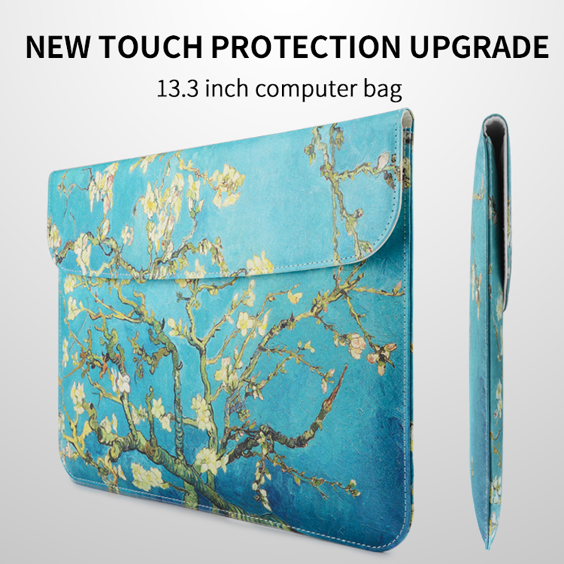 все цены на  RBP for Apple laptop bag female for macbook air13.3 inch computer bag for pro13inch liner bag notebook bag for IPad leather case  онлайн