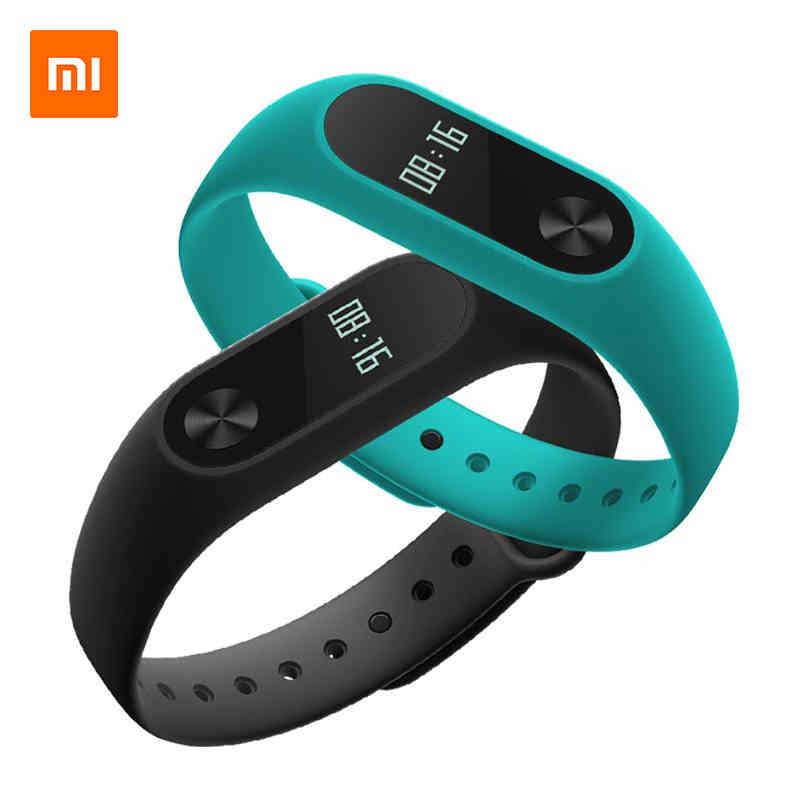 Originale Xiaomi Mi Band 2 Smart Monitor di Frequenza Cardiaca Fitness Tracker MiBand 2 IP67 Impermeabile Wristband Del Braccialetto con Schermo OLED