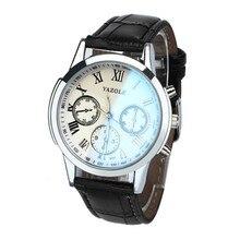 Роскошные модные Искусственная Кожа Мужские Blue Ray Стекло аналоговые кварцевые мужские часы контракт Простые Модные Бизнес ребенок/мальчика подарок