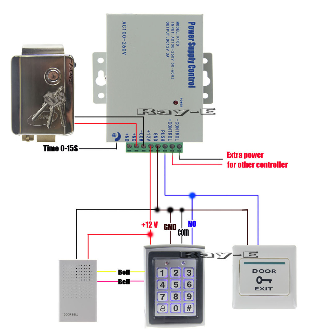 Aliexpress buy door access control system kit steel wiring diagram asfbconference2016 Gallery