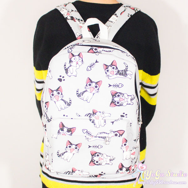 Japanese cartoon Chi's Sweet Home Cos Chi Cute cat cute student bag casual canvas shoulder bag men and women backpack anime haikyuu cosplay hinata syouyou cos student canvas men and women backpack