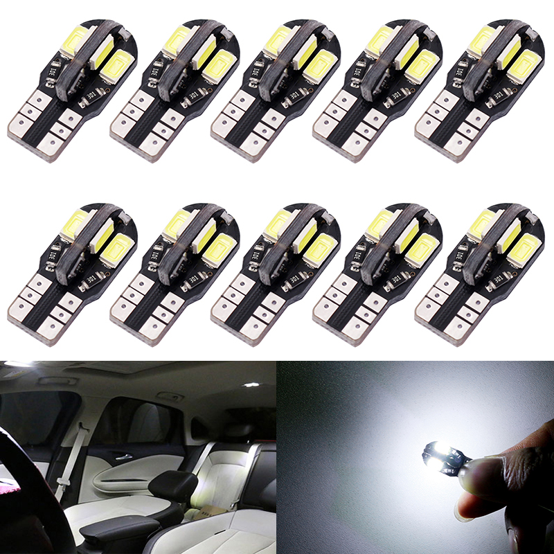 10pcs High Quality T10 8SMD 5630 <font><b>LED</b></font> Car Light Canbus No Error Auto Wedge Lamp 2825 <font><b>W5W</b></font> 8 SMD 5730 <font><b>Led</b></font> Parking Bulb <font><b>12V</b></font> image