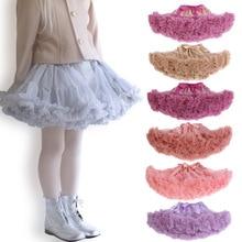 Юбка-пачка для девочек пушистый фиолетовый балетный Одежда для маленьких девочек вечерние юбки для танцев из тюля мини-юбка-пачка Saia infantil menina falda