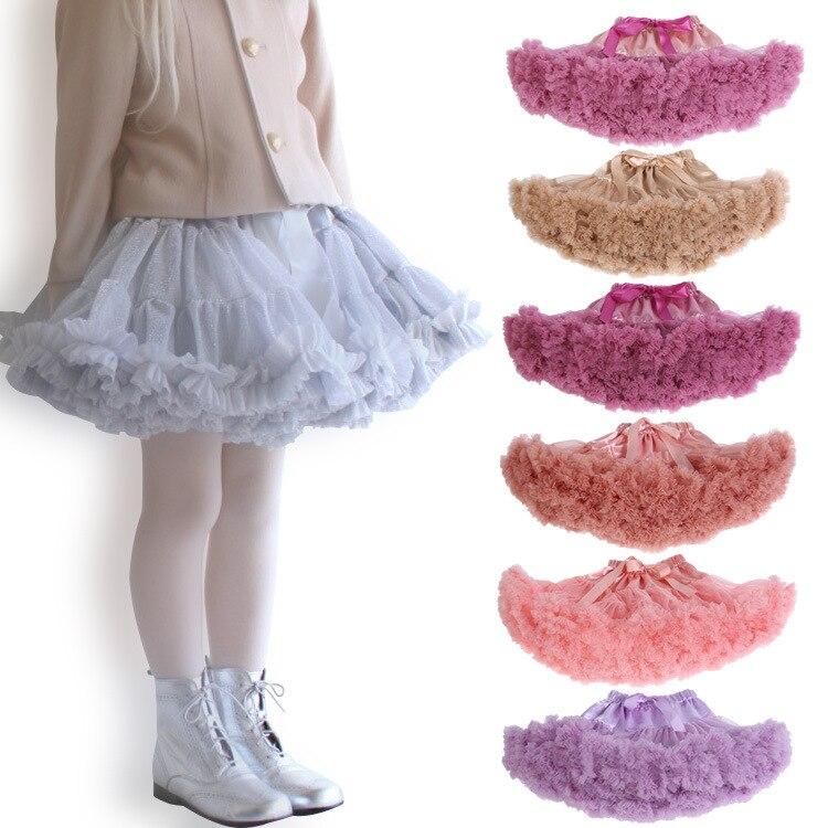 Falda tutú para niñas falda de Ballet púrpura mullido para Niñas Ropa para bebés falda de baile de fiesta de tul Mini Tutu infantil menina falda 2019