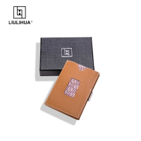LLH China factory manufacturer money clips folding magic wallet 100% Genuine Cow Leather Men Vintage Wallet Mini Creative Wallet