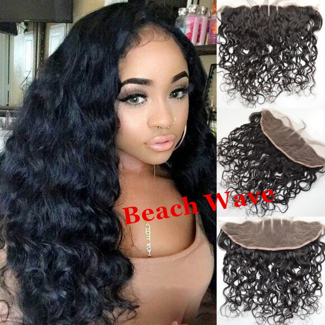 Brazilian Beach Wave Full Lace Frontal Closure