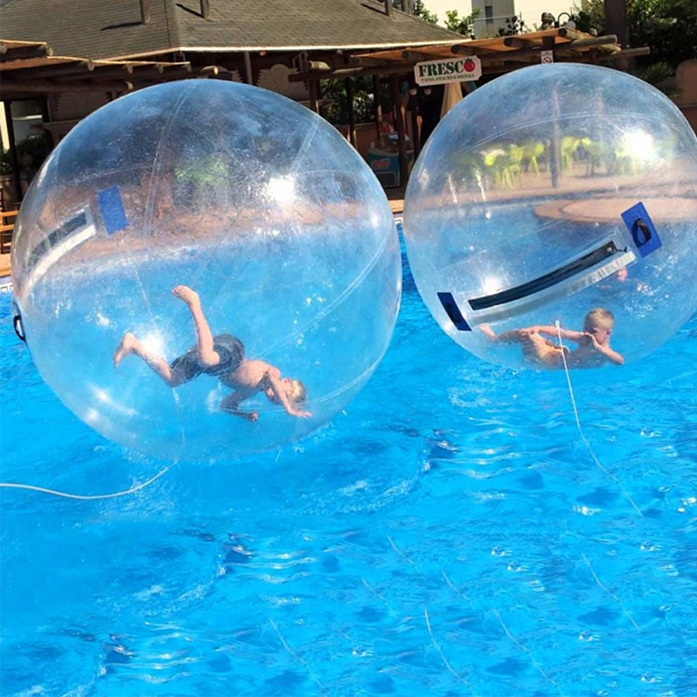 1.2m Child Water Walking Ball PVC Inflatable Dance Ball With Import/Normal Zipper For Swimming Pool Outdoor Water Float Toys
