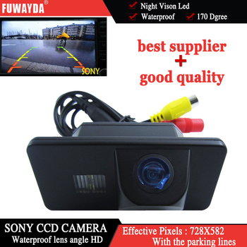 FUWAYDA FOR SONY CCD HD Car Rear View Reverse Backup CAMERA for BMW E81/E87/E90/E91/E92/E60/E61/E62/E63/E64/E70/ E71 waterproof image