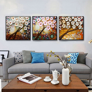 DONGMEI OILPAINTING Hand painted oil painting Home Decor High quality flower painting  Can provide  customized size   DM182824