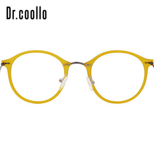 Image 5 - Fashion Designer Ultralight Yellow Round Circle Optical Sunglasses Eye Glasses Frame For Women Men