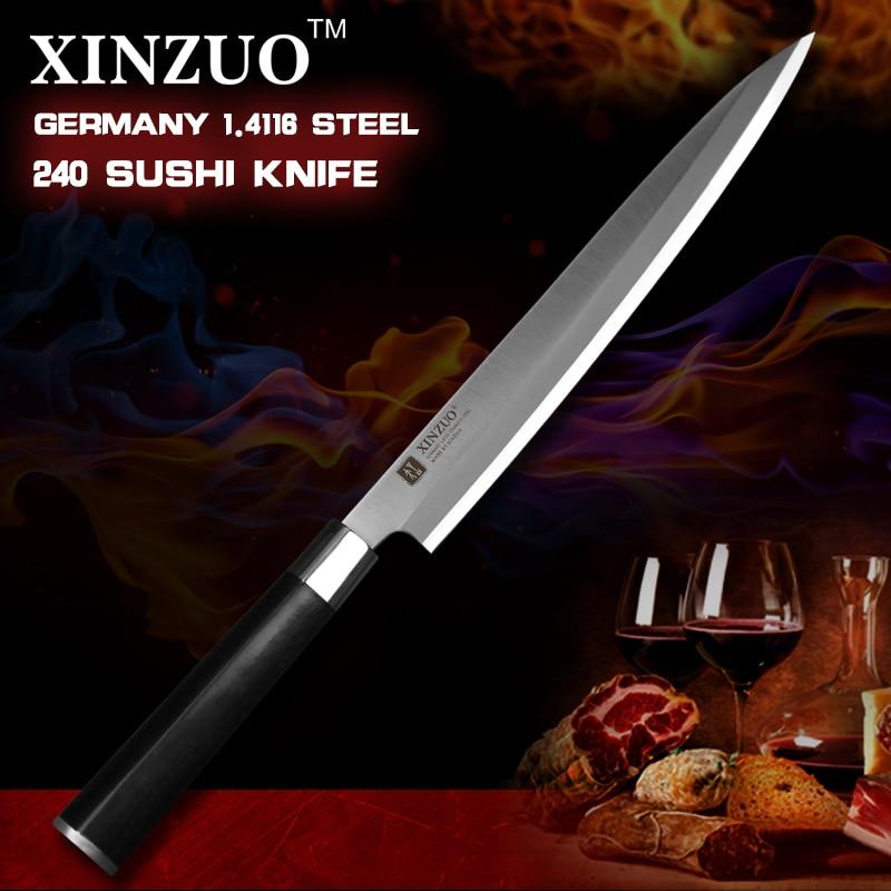 XINZUO 9 5 inch sashimi font b knife b font scabbard German steel chef font b