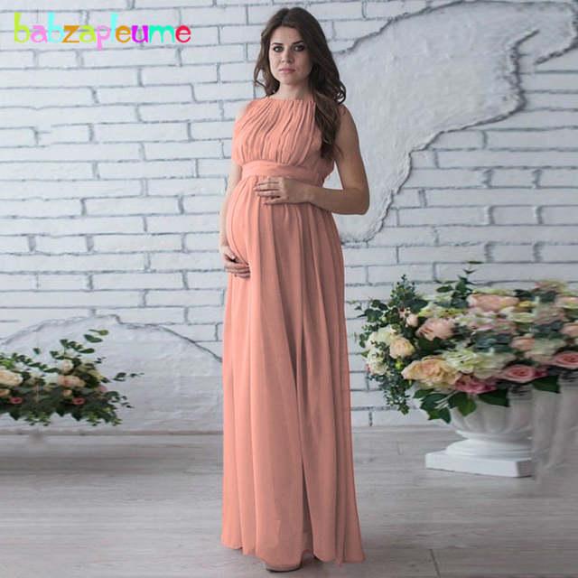 6676d304295f9 babzapleume Summer Women Long Maternity Elegant Party Dress For Pregnant  Clothing Plus Size Pregnancy Clothes Dresses BC1441-1