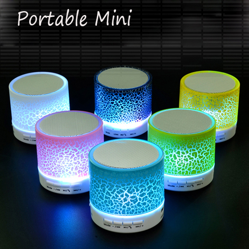 MINI Bluetooth Speaker Portable LED Music TF Card MP3 Player USB Wireless Sound Box Subwoofer Loudspeakers For Phone PC Notebook