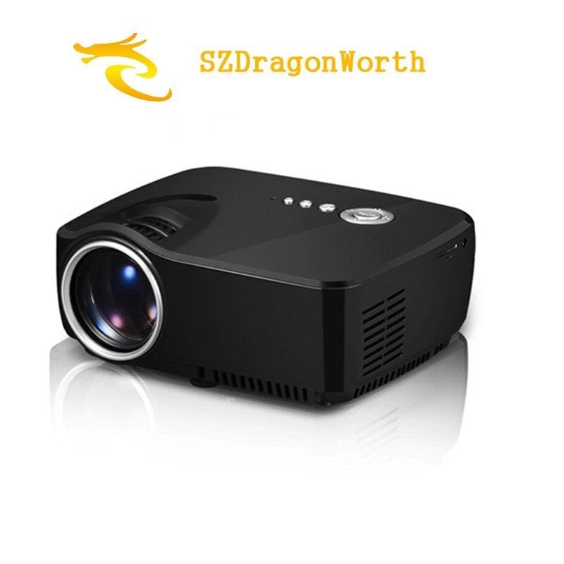 GP70 HD Led Project mini Projector 800 Lumens Support 800 x 480 Analog TV LED Projector Full HD 1080P 3D Projector