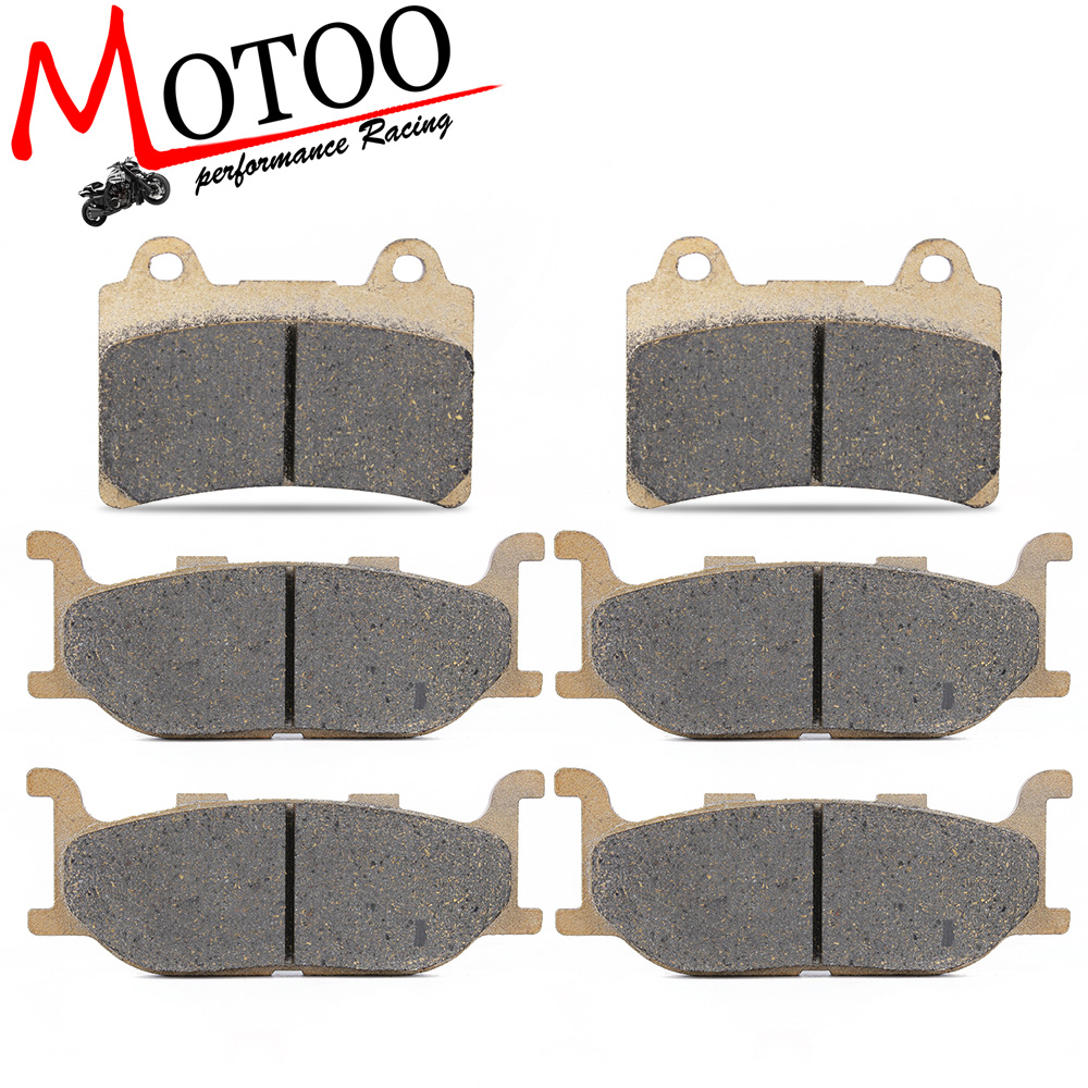Motoo - Motorcycle Front and Rear Brake Pads for YAMAHA XVZ1300 XVZ 1300 Royal Star Venture S 2008-2013 / Venture 1999-2001 motorcycle front and rear brake pads for yamaha xvs 1300 ctw ctx v star 1300 tourer 2007 2010 black brake disc pad