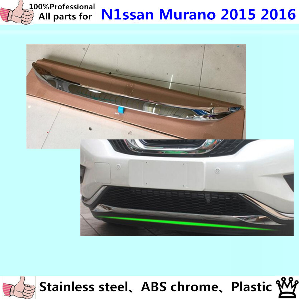 Car styling body cover bumper engine ABS Chrome trim Front bottom Grid Grill Grille edge panel 1pcs for Nissan Murano 2015 2016 chrome front bottom grill grid grille cover trim for mazda 3 axela m3 2014 2016