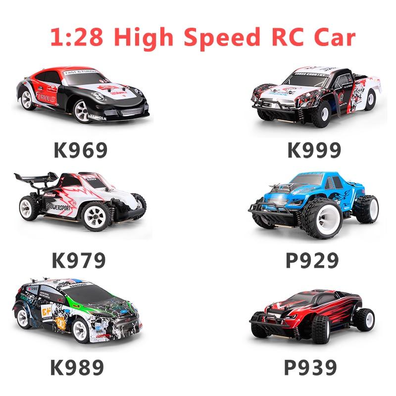 Wltoys 1:28 RTR RC Car 2.4G 4WD 4 Channles 30KM/H RC Drift Car Racing Car K969/K979/K989/K999/P929/P939 6 Styles For Selection