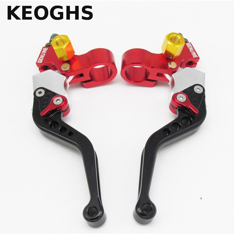 Keoghs 22mm Universal Motorcycle Brake Clutch Levers/drum Brake Left And Right For Honda Yamaha Kawasaki Suzuki One Pair