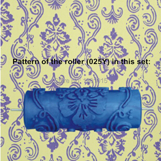 Hot model pattern 5inch 3D rubber decorative wall painting roller, wall pattern design roller, 025Y,free shipping