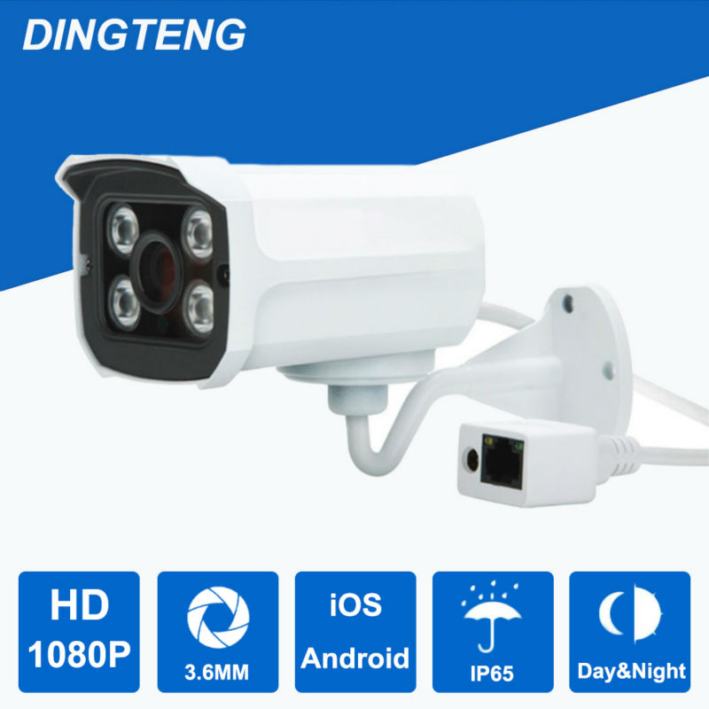 ФОТО 1080P IP Camera Outdoor waterproof security camera network surveillance CCTV 2.0MP 1920x1080 IR Cut IR LED Day and Night vision