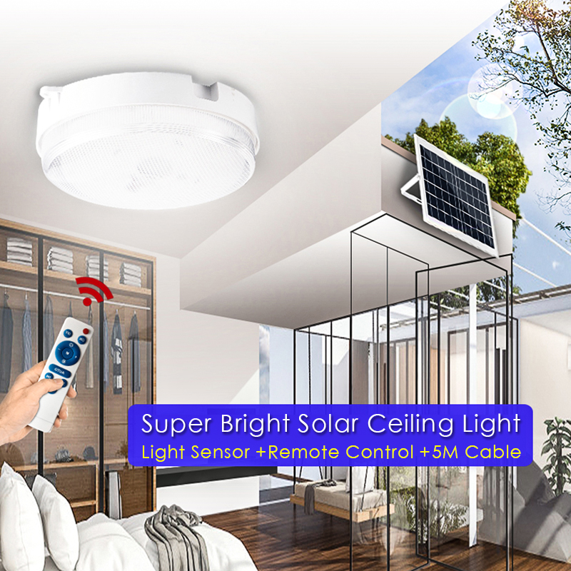 Modern Indoor LED Solar Ceiling Light With Remote Control Led Ceiling Lamp For Bedroom Living Room Study Decorative