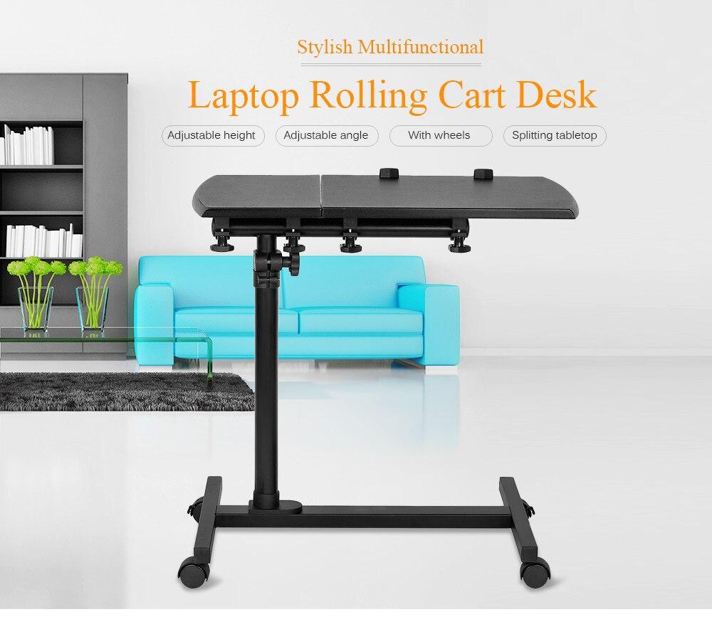 KQ YD03 Laptop Rolling Cart Desk Adjustable Height Sofa Bedside ...
