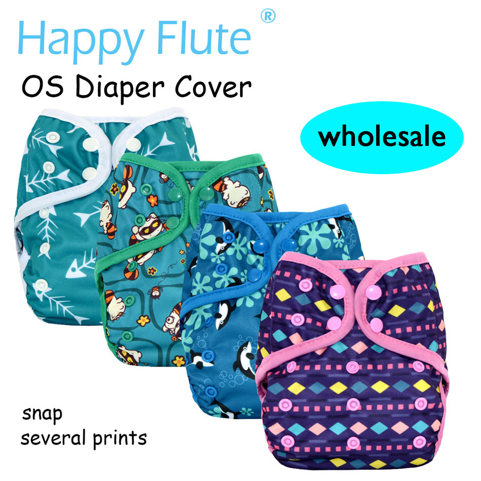 Happy Flute onesize diaper cover wholesale,special prints,waterproof and breathable,fits 3-15kg