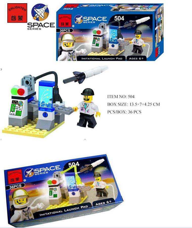 Enlighten Models Building toy Compatible with Lego E504 116pcs Space Blocks Toys Hobbies For Boys Girls Model Building Kits