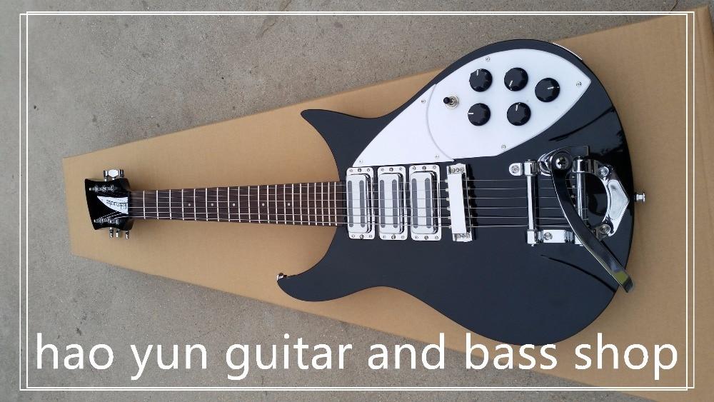 New + Factory + black rickenback electric guitar ricken 325 3 pickups electric guitar Free Shipping Full solid body guitar
