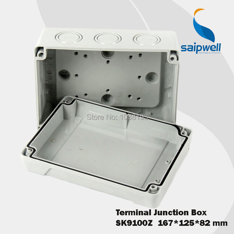 167 125 82mm ABS Plastic Electronic Junction Enclosure  IP65 SK9100Z