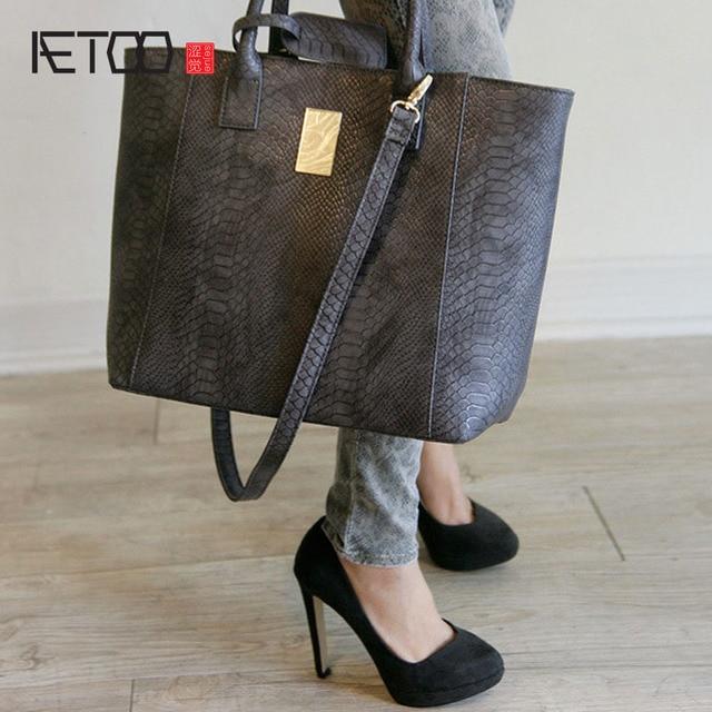 Aliexpress.com : Buy AETOO Big bag 2017 new fashion leather ...