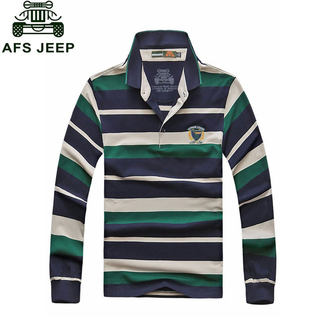 f2aac8ef3a US $36.69 |CLOTHES Brand Clothes 2017 Autumn Casual Men's Polo Shirts  Striped Patchwork Green Long Sleeve Shirt Cotton Tops Tees Clothes-in Polo  from ...