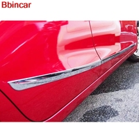 Bbincar Car Styling Auto ABS Chrome For Mazda 2 Demio 2015 2016 Side Door Body Moulding