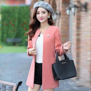 SexeMara Top Quality Coat Winter Jacket Women Casual Long Wool Coat 2018 New Korean Fashion Large Size Women's Winter Coat 8