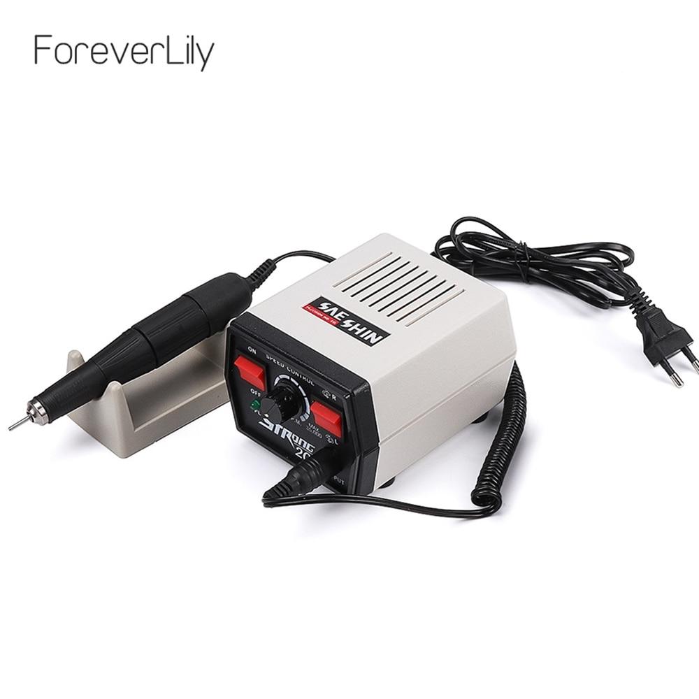 65W 35000RPM Strong 204 102L 2 35 Electric Nail Drills Machine Manicure Pedicure File Bits Nails