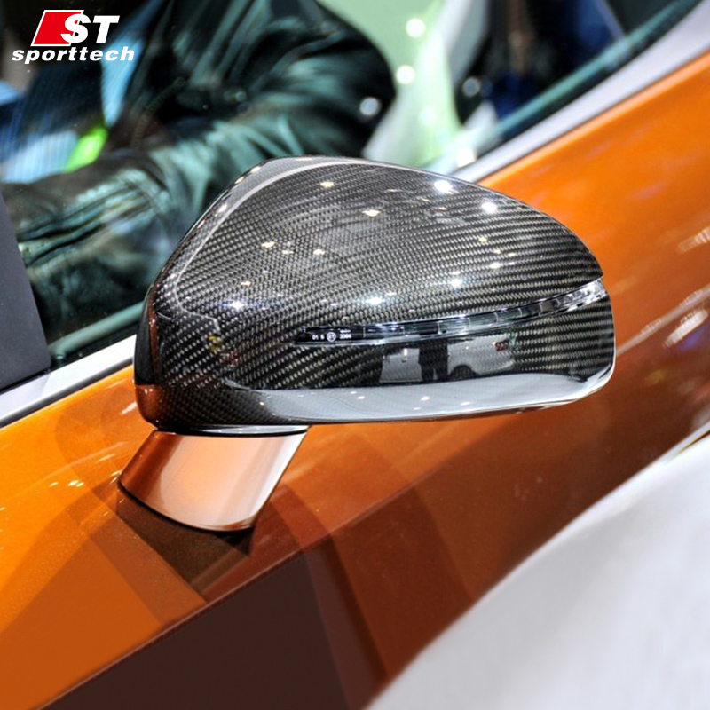 Carbon Fiber Rear View Mirror Cover For Audi R8 TT Car Styling Rearview Mirror Sticker For Audi R8 TT Paste&Replace Accessories