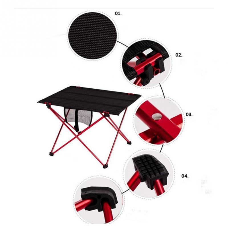 PC Portable Aluminum Roll Up Folding Table Outdoor Camping Picnic