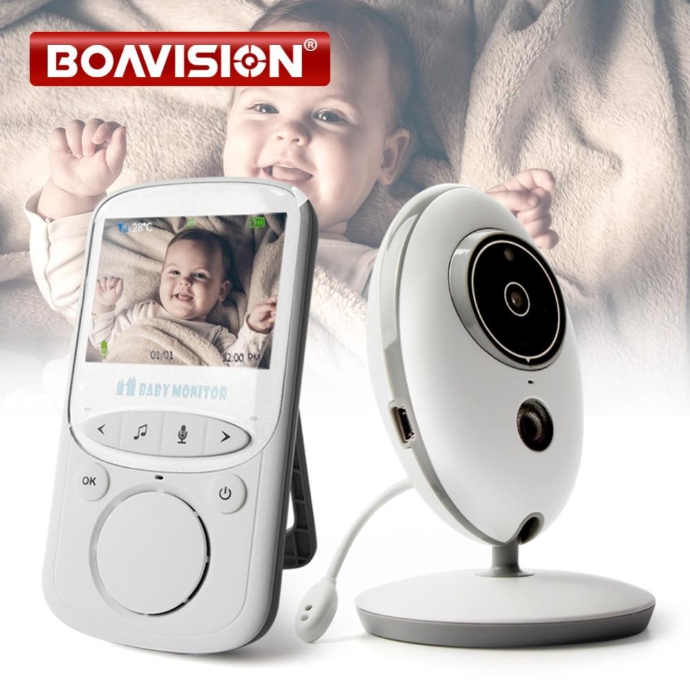 Sans fil LCD Audio babyphone vidéo VB605 Radio Nounou Musique Interphone IR 24 h Portable caméra embarquée Bébé Talkie Walkie Baby-Sitter