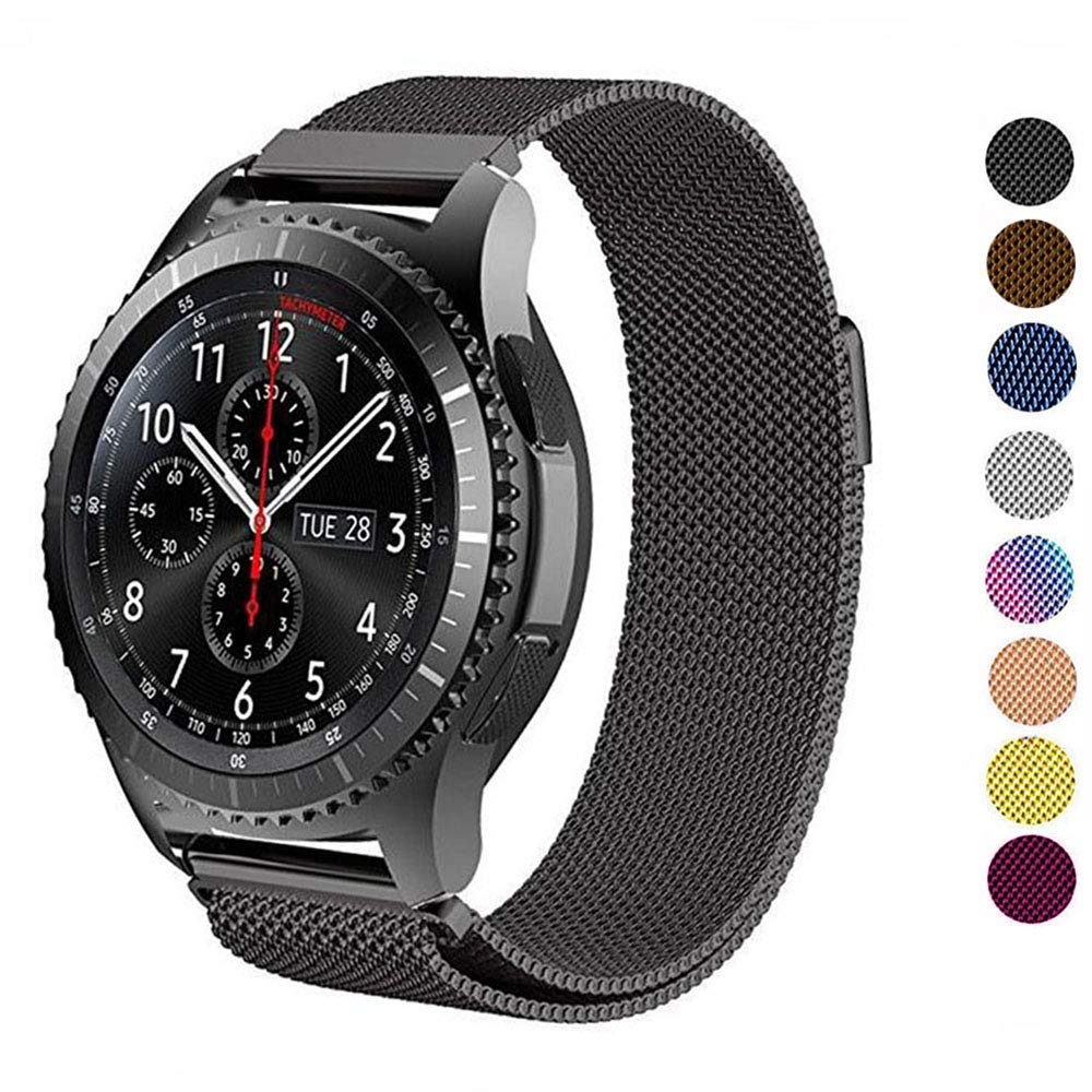 18/20/22mm Milanese Strap For Galaxy Watch 42mm/46mm/Active Samsung Gear S3 Frontier/S2/sport Band Amazfit Bip/Huawei Watch GT 2