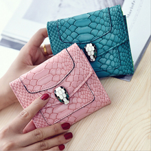The new tide female bag restore ancient ways the crocodile lines ministry of  snake  brief paragraph lady  wallet card package
